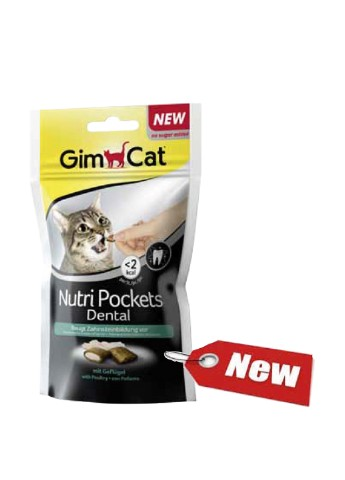 Консервы Nutri Pockets д/кошек Dental,  60 г. Gimborn