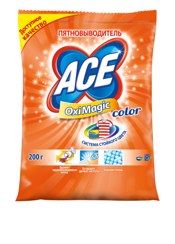 Пятновыводитель Oxi Magic Color, 200 г Ace
