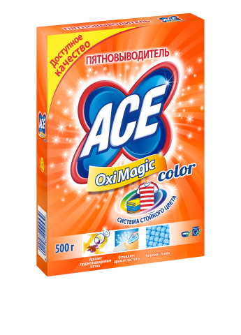Пятновыводитель Oxi Magic Color, 500 г Ace