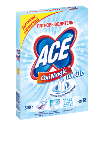 Пятновыводитель Oxi Magic White, 500 г Ace
