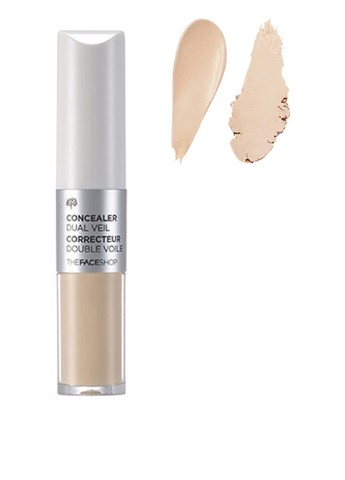 Консилер Concealer Dual Veil V201 Apricot Beige, 8,1 г The Face Shop
