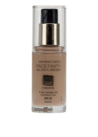 Тональный крем Facefinity All Day Flawless 3-in-1 Foundation №60 (Sand), 30 мл Max Factor