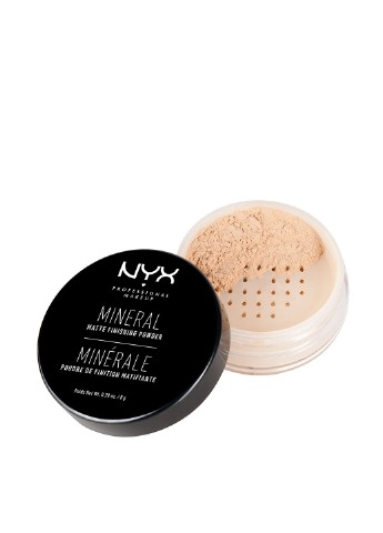 Пудра минеральная финишная Mineral Matte Finishing Powder 01 Light/Medium, 8 г NYX Professional Makeup