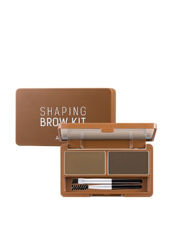 Набор для бровей Shaping Brow Kit №02 (Dark Brown), 3,4 г A'pieu