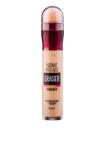 Консилер Eraser Instain Anti-Age Eye Concealer 01 Light, 6,8 мл Maybelline