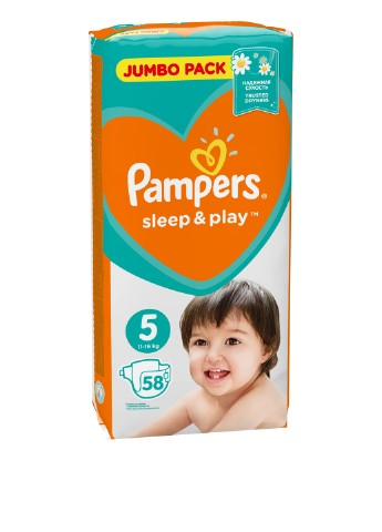 Подгузники Sleep & Play (11-18 кг), 58 шт. Pampers