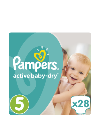 Подгузники Active Baby-Dry Junior (11-18 кг), 28 шт. Pampers