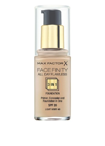Тональный крем Facefinity All Day Flawless 3-in-1 Foundation №40 Light Ivory, 30 мл Max Factor