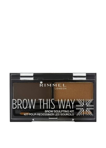 Набор для бровей 003 (Dark Brown), 2.4 г Rimmel
