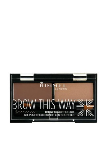Набор для бровей 002 (Mid Brown), 2.4 г Rimmel