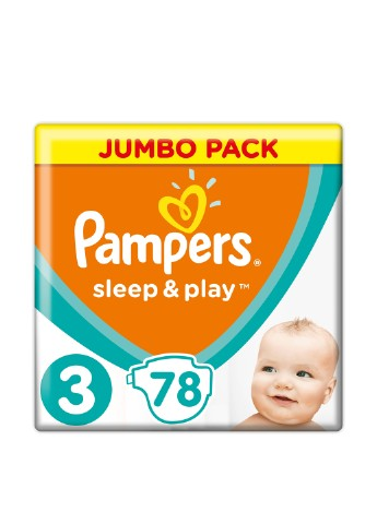 Подгузники Sleep & Play Midi (6-10) кг, 78 шт. Pampers