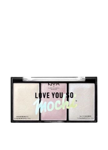Палитра хайлайтеров для лица Love You So Mochi Highlighter №02 Arcade Glam, 5,4 г NYX Professional Makeup