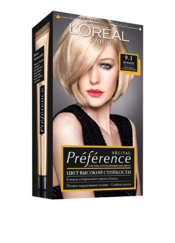 Фарба для волосся L'Oreal Paris Recital Preference 9.1 Вікінг L'Oreal Paris