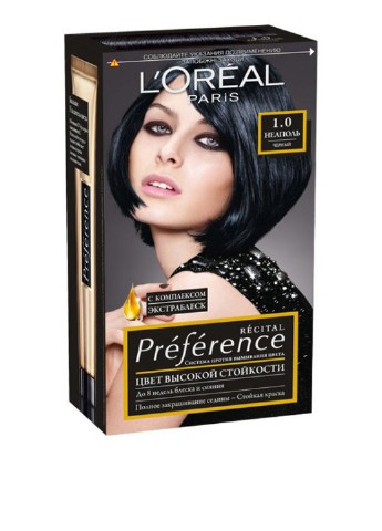 Фарба для волосся L'Oreal Paris Recital Preference 1.0 Неаполь L'Oreal Paris