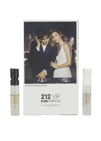 Carolina Herrera 212 VIP Men Club Edition Набор (пробник 1.5 мл + 212 VIP Women Club Edition пробник 1.5 мл) Carolina Herrera