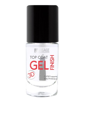 Покрытие для ногтей Luxvisage Top Coat Gel Finish 3D, 8 мл Luxvisage