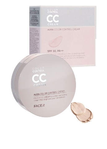 СС крем Aura сolor сontrol SPF30 № 01 (Radiant Beige), 20 мл The Face Shop