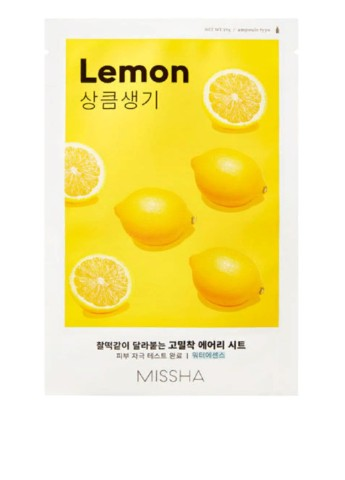 Маска для лица с экстрактом лимона MISSHA Airy Fit Sheet Mask Lemon, 19 г MISSHA