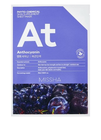 Маска для лица Phytochemical Anthocyanin/Lifting, 25 мл MISSHA