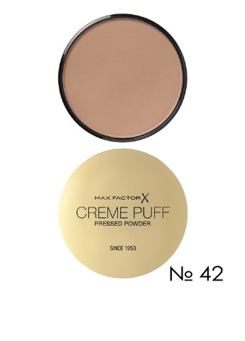 Пудра компактная Creme Puff Pressed Powder №42 Deep Beige, 21 г Max Factor