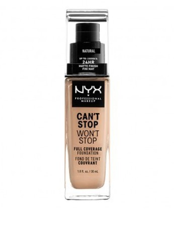Тональная основа Can't Stop Won't Stop CSWSF07 (Natural), 30 мл Nyx