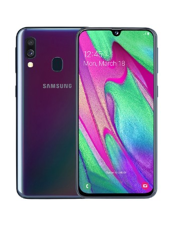 Купить смартфон  Samsung Galaxy A40 4/64GB Black (SM-A405FZKDSEK) за 6999 грн в Интернет-магазине Kasta - Киев, Украина (154749452)