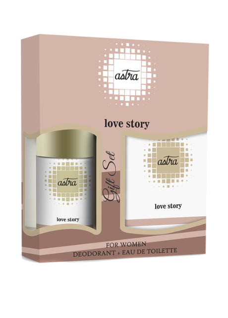 Подарочный набор ASTRA LOVE STORY GIFT SET (DEO+EDT) Unice - Фото