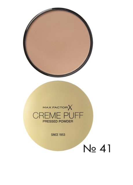 Пудра компактная Creme Puff Pressed Powder №41 (Medium Beige), 21 г Max Factor светло-бежевая - Фото