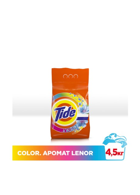 Порошок Color Lenor Touch of Scent, 4,5 кг Tide - Фото