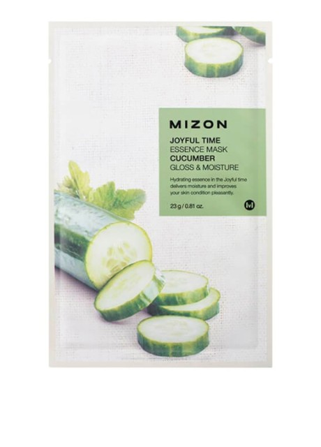 Маска тканевая Joyful Time Essence Mask-Cucumber, 23 мл Mizon бесцветная - Фото