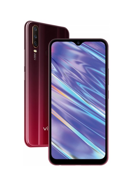Смартфон Vivo Y15 4/64GB Burgundy Red красный - Фото