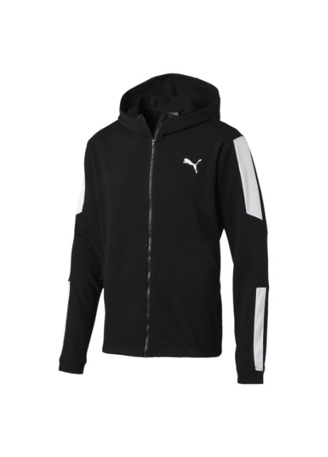 Толстовка Puma Energy Sweat Blaster Jacket чорна спортивна - Фото